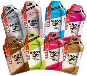Clif Shot Energy Gel gibt es in verschiedenen  Geschmacksrichtungen